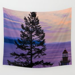 VanCity Sights In Purple Wall Tapestry