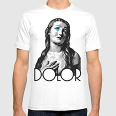 DOLOR White Mens Fitted Tee MEDIUM