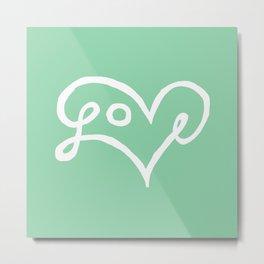 Love Print in Mint Metal Print