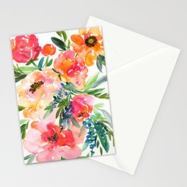 bouquet of huge peonies Stationery Cards