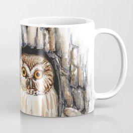 Saw-whet Owl at Home Coffee Mug