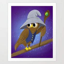 The Wizard Owl Art Print