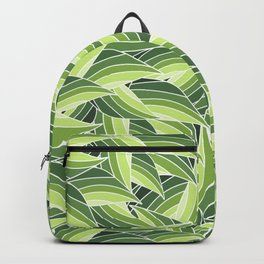 GREENERY LEAVES W  (abstract flowers nature) Backpack
