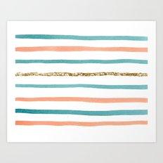 Sparkle Stripe Art Print