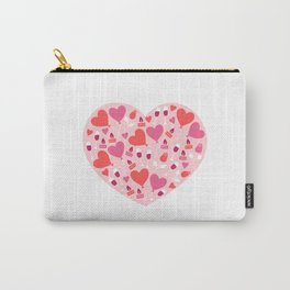 Valentines Day Heart #7 - Glass Wine Heart-Shaped Lock Carry-All Pouch