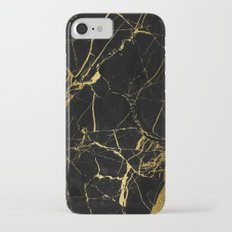 Black and Gold Marble Slim Case iPhone 7