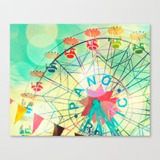 Panoramic carnival ferris wheel Canvas Print