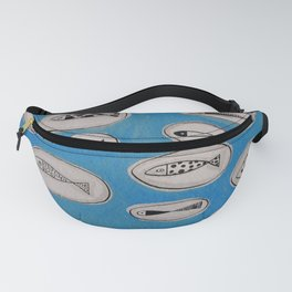 Sea of bubbles with fish / Mar de bombolles amb peixos Fanny Pack