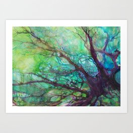 Dreaming Tree in the Evening Art Print