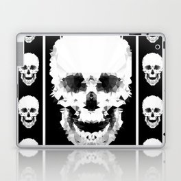 Black and white abstract pattern . Laptop & iPad Skin