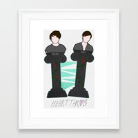 tegan and sara Framed Art Prints featuring Heartthrob [Tegan and Sara] by Canadiquin
