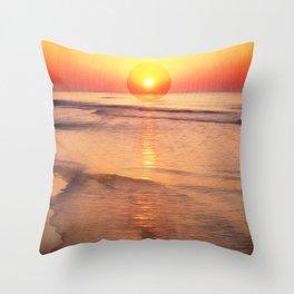 Sunrise Over Ocean Throw Pillow