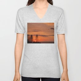 Kings Beach Sunrise Unisex V-Neck