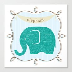 Fun at the Zoo: Elephant Canvas Print