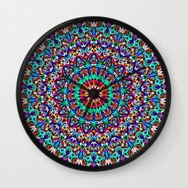 Colorful Life Garden Mandala Wall Clock