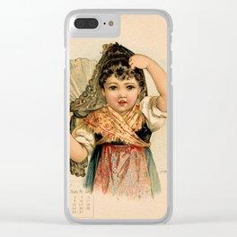 Spanish Girl Maud Humphrey Clear iPhone Case