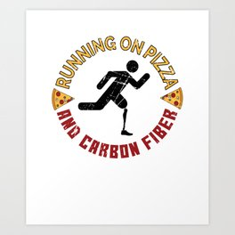 Running On Pizza And Carbon Fiber - Leg Amputee Art Print