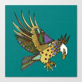jewel eagle turquoise Canvas Print