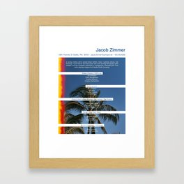 JZs Resume Framed Art Print