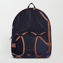 Violet Art Deco Backpack