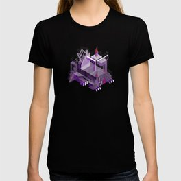 Den of the Headless Lion in Purple and Lavender T-shirt