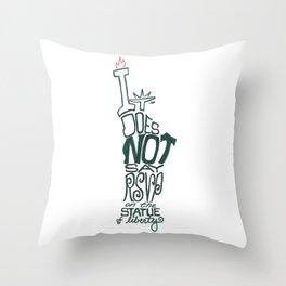 Don't Be Clueless Throw Pillow