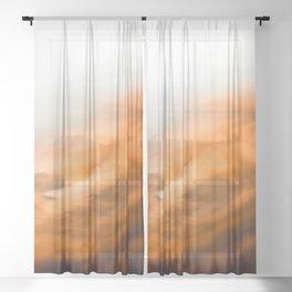 Summer Sky III - Nature Photography Sheer Curtain