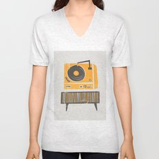 Vinyl Deck Unisex V-Neck