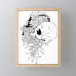 Skull (Pushing Up Daisies) Framed Mini Art Print