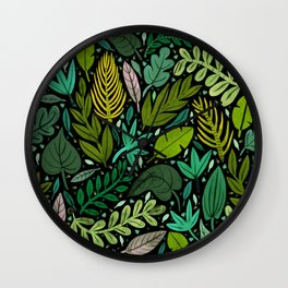 Green Scatter Wall Clock