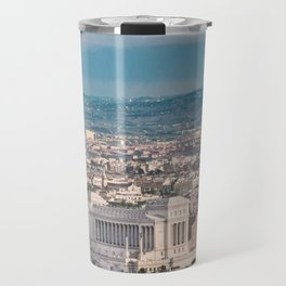 Rome Aerial View at Saint Peter Basilica Viewpoint Travel Mug