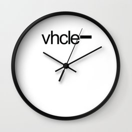 Vhcle Magazine Logo Wall Clock