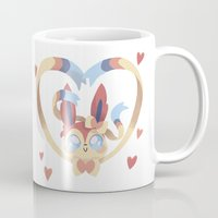 sylveon Mugs featuring Dragon Slayer by Oh My Dog!