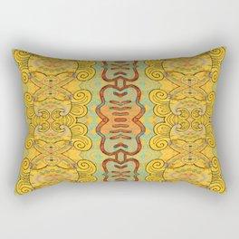 Boujee Boho Elegant Golden Charm Rectangular Pillow