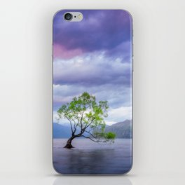 Wanaka Tree at Sunset iPhone Skin