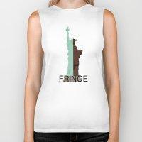 fringe Biker Tanks featuring Fringe. Statue of Liberty by Prosha Pro