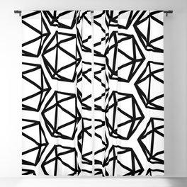 D20 Pattern Large Blackout Curtain