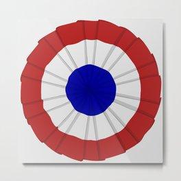 French Flag Cockade Pin Metal Print