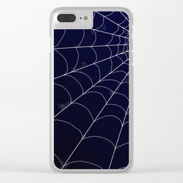 Spiderweb on Midnight Clear iPhone Case