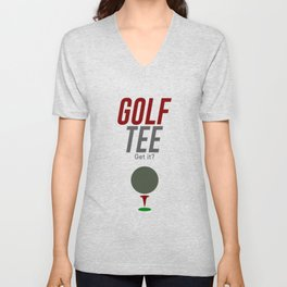 Golf Tee Pun Golfing Game Swing Ball Unisex V-Neck