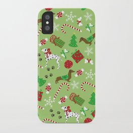 Christmas Pups iPhone Case