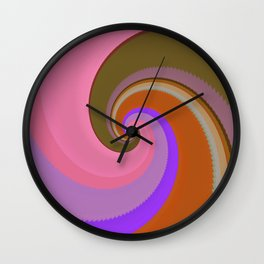 Swirls of Color Wall Clock