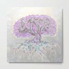 Tree of Life Lightness of Air Metal Print