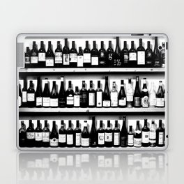 Wine Bottles in Black And White #decor #society6 #buyart Laptop & iPad Skin