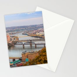 Monongahela River - Pittsburgh, Pennsylvania Stationery Cards