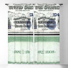 1882 Issue U.S. Federal Reserve Twenty Dollar Battle of Lexington Bank Note Blackout Curtain