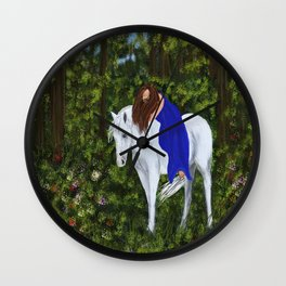 Temptress in the Forest Wall Clock