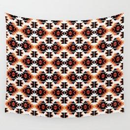 Reto Geometric in white Wall Tapestry