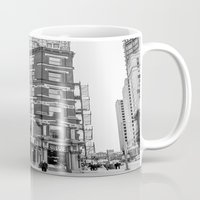 building Mugs featuring BUILDING by Stephanie Michelle