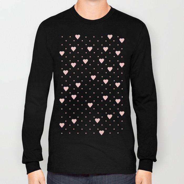 Pin Point Hearts Blush Long Sleeve T-shirt